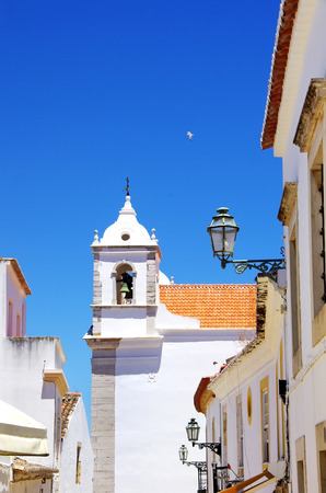 Lagos: Tower and bell of church,Lagos,Portugal