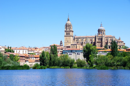 espana: cathedral of Salamanca and Tormes river