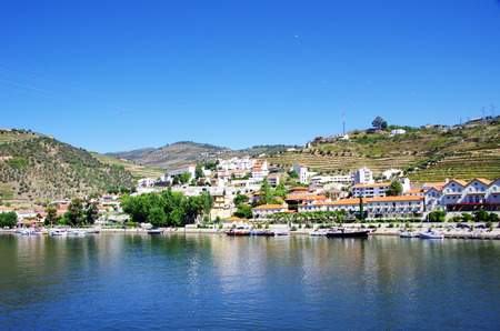 fluvial: View from the  Pinhao village in Portugal