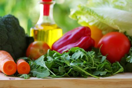 fresh vegetables on table Foto de archivo