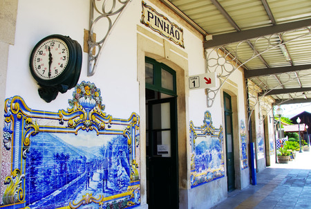 railway station: railway station of Pinhao, Douro Valley, Portugal