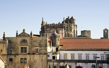 templar: view of Palace of the Knights Templar , Tomar. Portugal Editorial