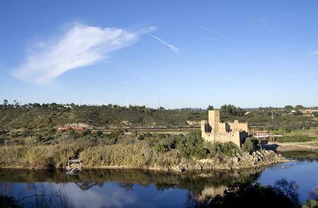 knights templar: Castle Almourol, a small island in the river Tejo in Portugal