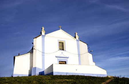 crenelation: Church of Salvador in Arraiolos village, Portugal Stock Photo