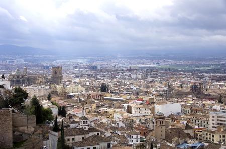 granada: Cityscape  Church Cathedral, Granada Andalusia Spain.