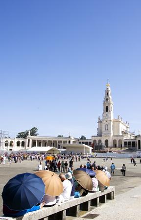 architectural exteriors: Portugal, City Fatima - Catholic pilgrimage center.