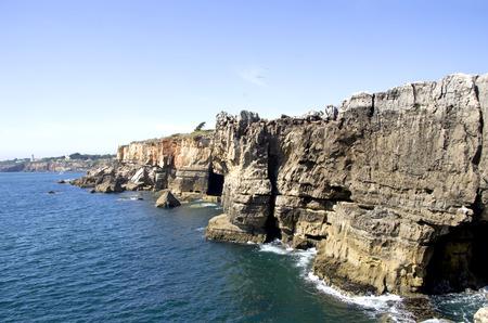 inferno: Cliffs of Boca de inferno in Cascais (Portugal)