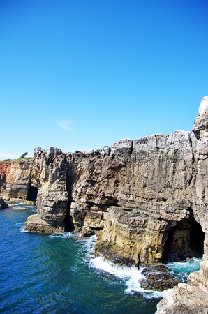 inferno: Cliffs of Boca de inferno in Cascais, Portugal