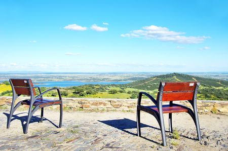viewpoint: Two chairs in the Alqueva Lake viewpoint