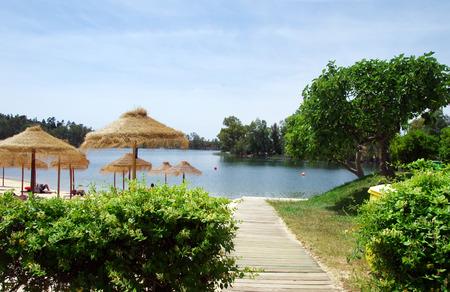 River beach at Mina de Sao Domingos, Mertola, Portugal