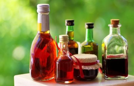 excise: table of assorted alcoholic beverages