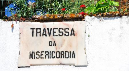 placa bacteriana: antigua placa de m�rmol portugu�s Foto de archivo