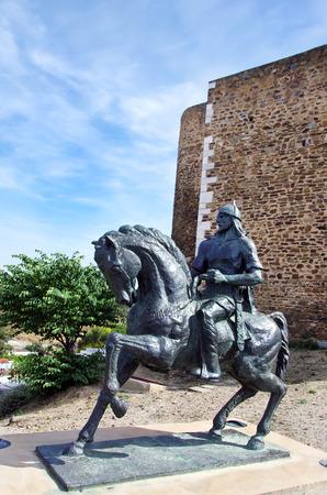 ibn: equestrian statue of Ibn Qasi, Mertola, Portugal Stock Photo