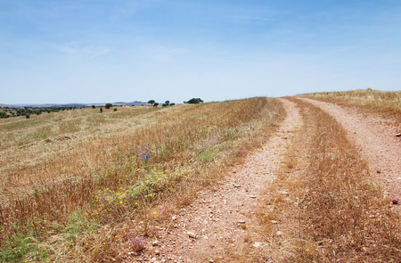 space weather tire: rural road at Alentejo, south of Portugal
