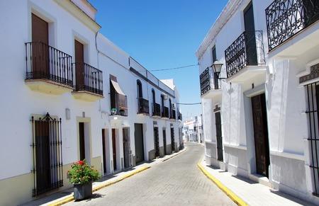 extremadura: street of Olivenza, Extremadura , Spain