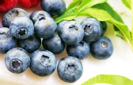 blueberries: fresh blueberries on the White background