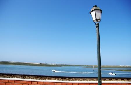 old lantern in Ria Formosa, Faro, Portugal Banco de Imagens