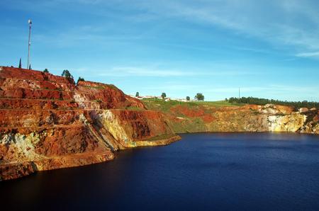 contaminated lagoon at S.Domingos, Portugal