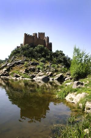 ribatejo: Almourol castle on Tejo river, Portugal