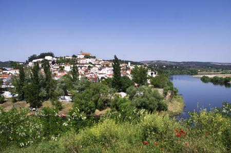 ribatejo: historic village of Constancia. Santarem, Ribatejo, Portugal. Stock Photo