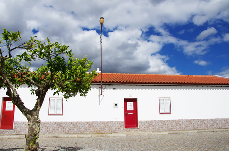 roof windows: traditional portuguese house, alentejo region