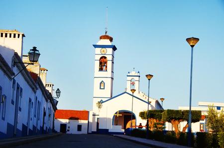 Santa susana village in alentejo region at sunset Editorial