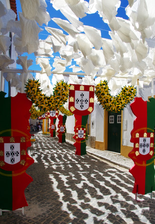decorated street,Redondo village,south of Portugal