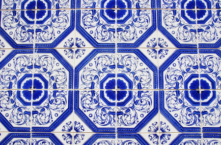 repeated: Closeup of Traditional portuguese tiles