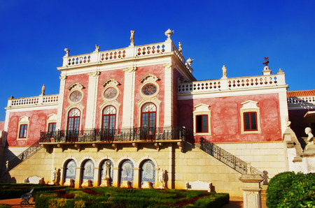 museum visit: Palace of Estoi,  Algarve region. Portugal