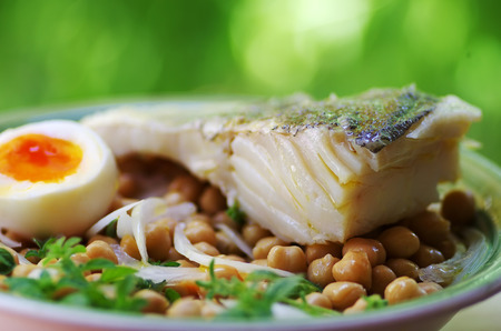 portuguese plate of  codfish 免版税图像