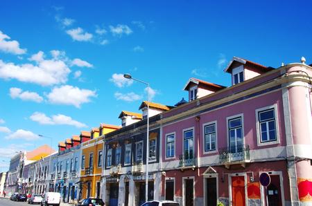 portuguese facades in Setubal city, Portugal