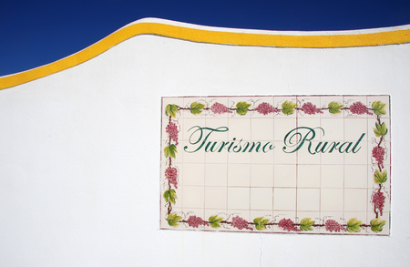 tile plaque at south of Portugal: Turismo rural.  rural tourism