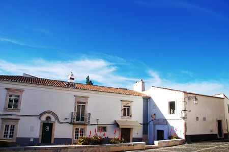 square in the old town of Estremoz, Portugal