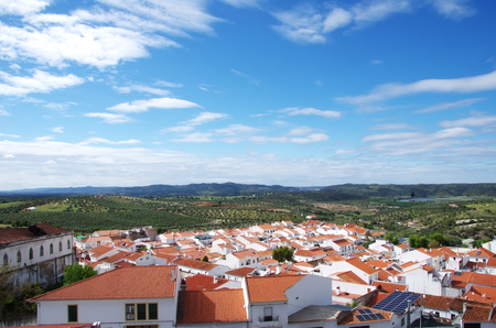 landscape of Moura village, south of Portugal