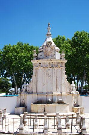 marble fountain in Borba city, south of Portugal Standard-Bild - 131221415
