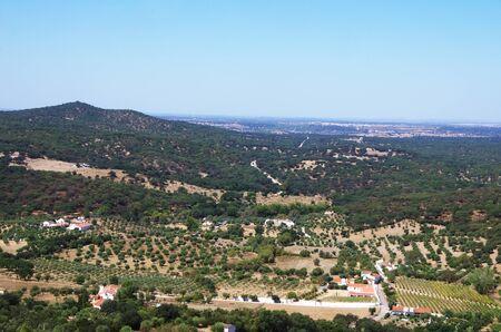 landscape near Evoramonte village, south of Portugal Standard-Bild - 131221473