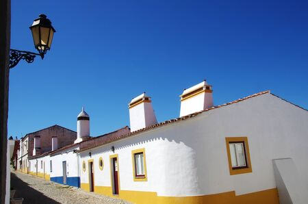 traditional street of alentejo region, Portugal Standard-Bild - 136270513