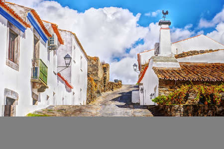 old street in Monsaraz village, alentejo region, Portugal