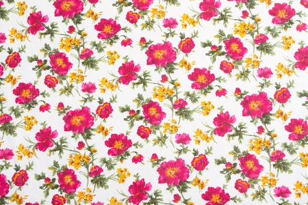 flower print: Floral pattern on seamless cloth. Flower bouquet. Vintage style Stock Photo
