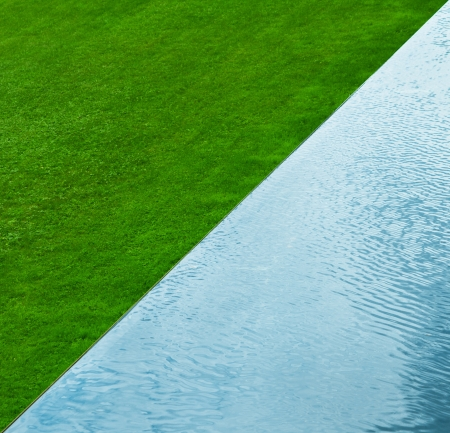 grass and water nature background. Top view. Abstract photo