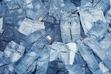 top clothing: Jeans assortment background