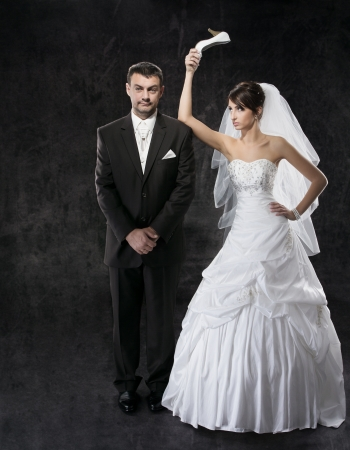 crazy woman: Married couple conflict, bad relationships
