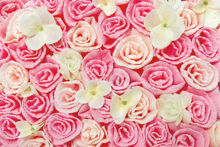 roses flower pattern background. Floral pink texture. photo