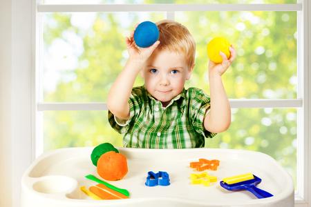 little colours: Kid Play Modeling Plasticine, Child Mold Colorful Clay Dough, Preschooler Education