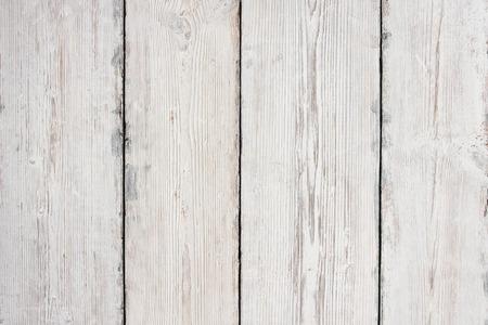 木板のテクスチャ、白い木製テーブル背景、床または壁 写真素材