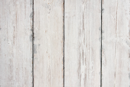 Wood Planks Texture, White Wooden Table Background, Floor or Wall Imagens - 51998393