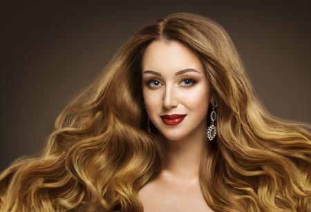 Woman Hair, Fashion Model Hairstyle, Long Waving Hair Style, Girl Beauty Face