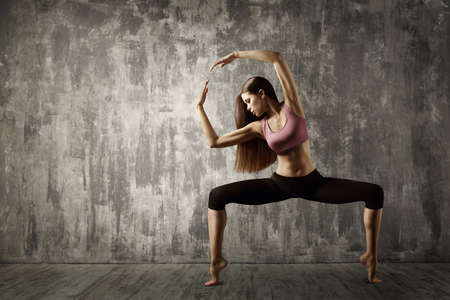 Beautiful Woman Sport Dance, Young Active Girl Gymnastics Fitness Exercise Reklamní fotografie