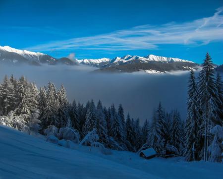 hayloft: Hayloft in winter