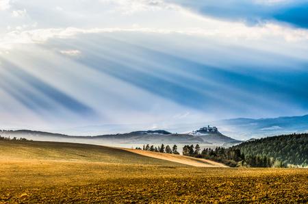 Morning rays Foto de archivo - 105300252